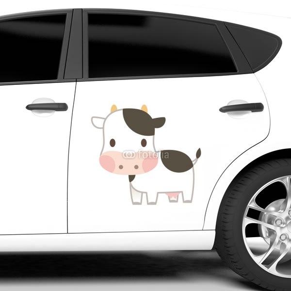 【車ステッカー】可愛い牛さん