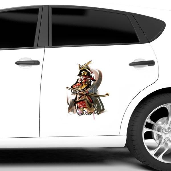 【車ステッカー】甲冑の武士