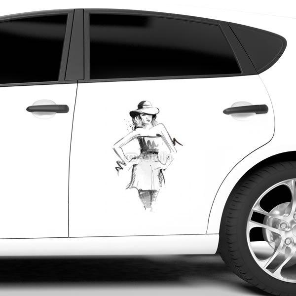 【車ステッカー】ファッションウーマン