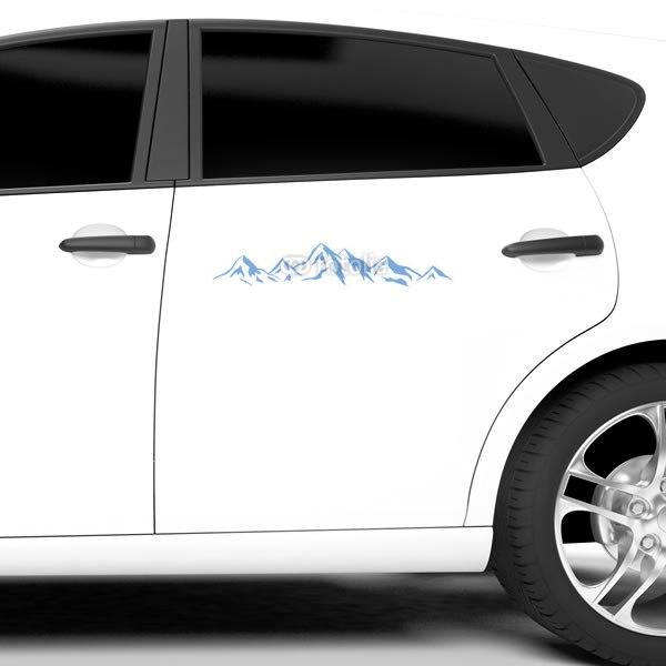 【車ステッカー 白い車限定】スノーマウンテン