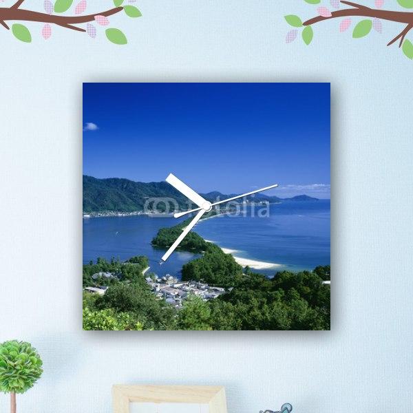 【掛け時計】日本三景 天橋立の風景
