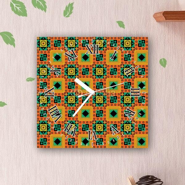 【掛け時計】インディアン エスニックパターン