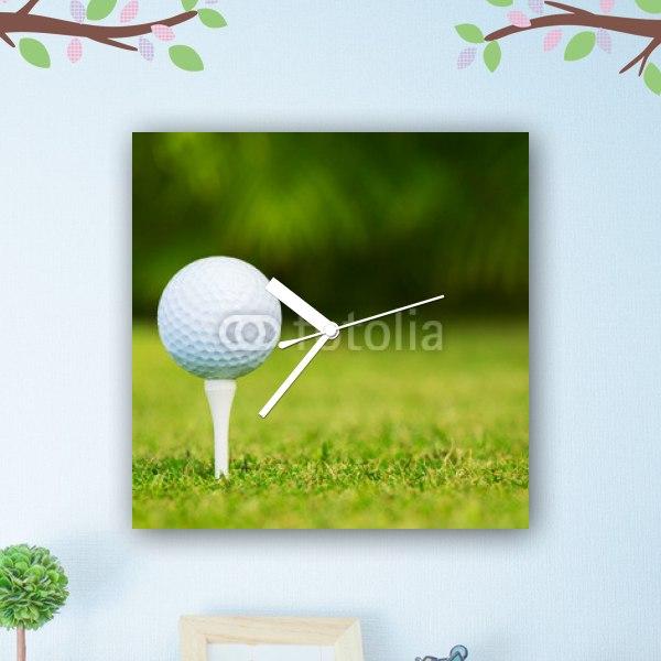 【掛け時計】ティーの上のゴルフボール