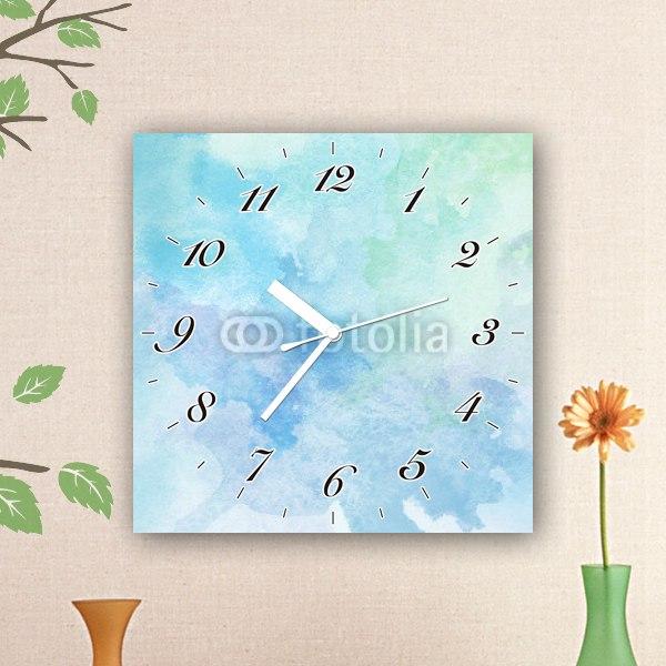 【掛け時計】青の水彩