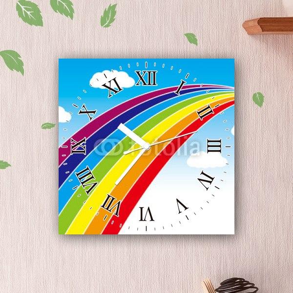 【掛け時計】虹の滑り台