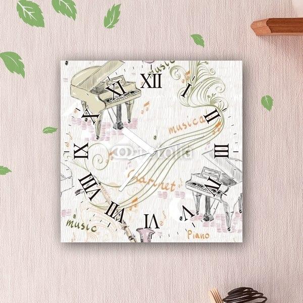 掛け時計バスクラリネットとピアノのハーモニー