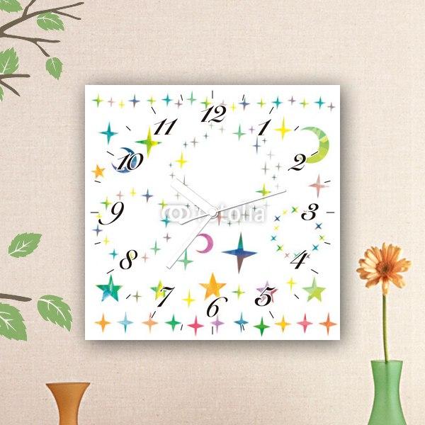 【掛け時計】キラキラスター