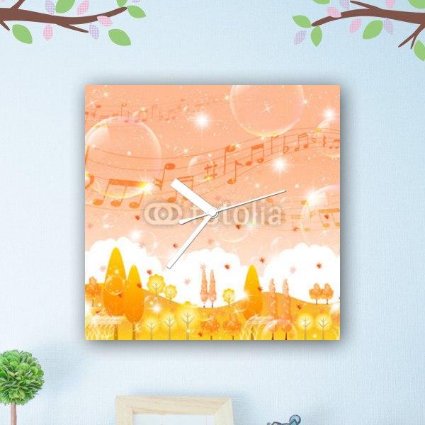 【掛け時計】秋のメロディー