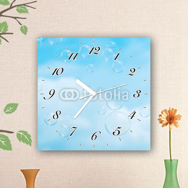 【掛け時計】空に舞うシャボン玉