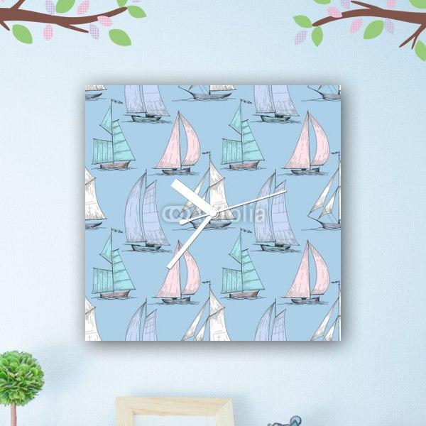 【掛け時計】可愛いヨット