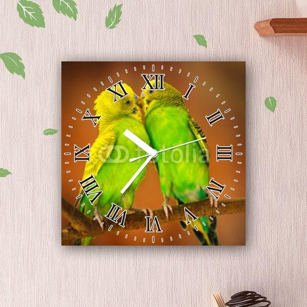 【掛け時計】恋するセキセイインコ