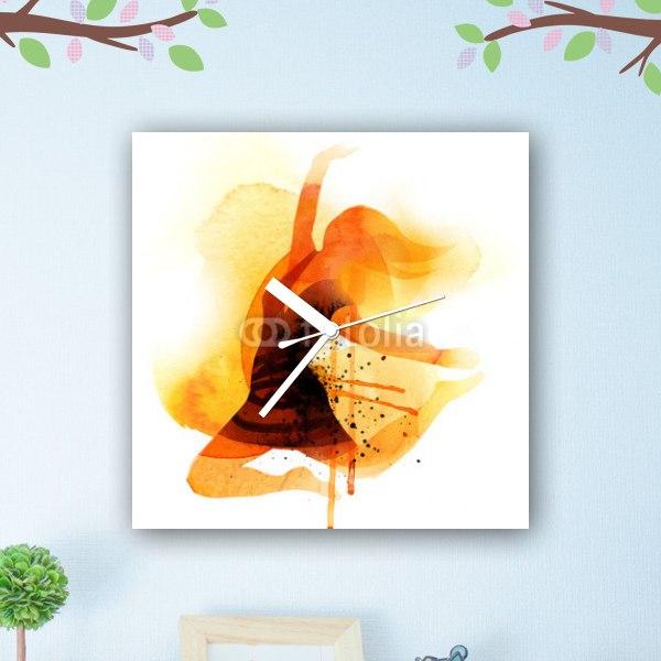 【掛け時計】ジャンピングウーマン オレンジ