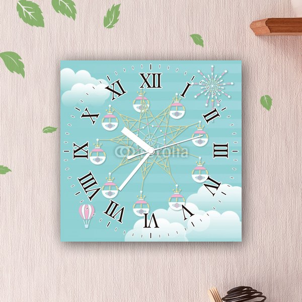 【掛け時計】メルヘン遊園地