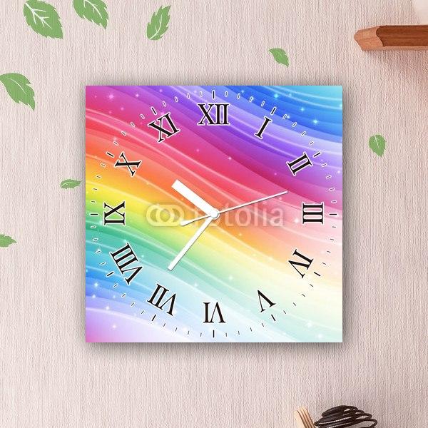 【掛け時計】レインボー・ウェーブ