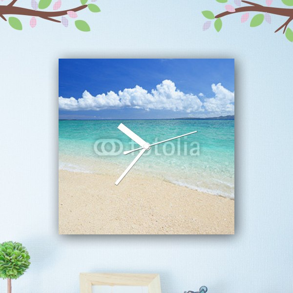 【掛け時計】沖縄の夏空