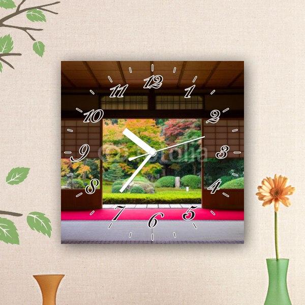 【掛け時計】日本庭園