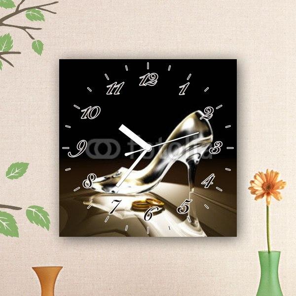【掛け時計】ガラスの靴