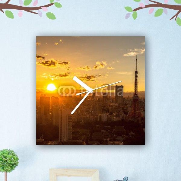 【掛け時計】東京タワー 夕景