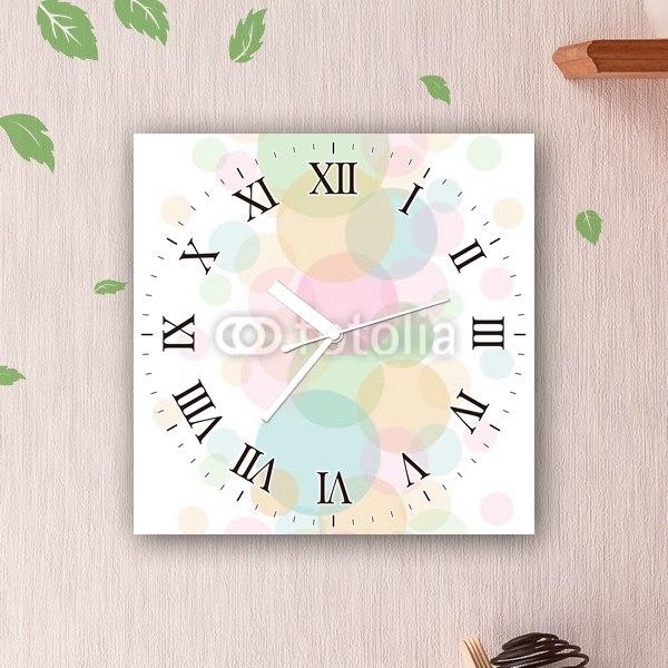 【掛け時計】パステル調のドット
