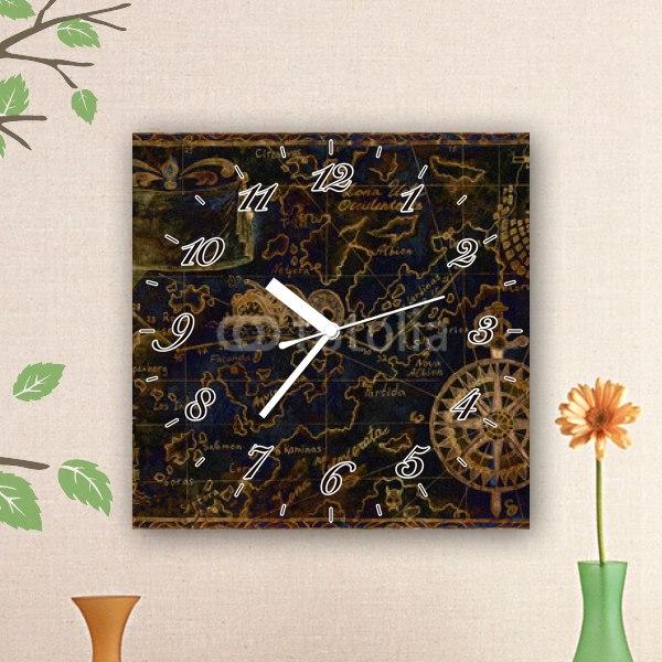 【掛け時計】黒いお宝の地図