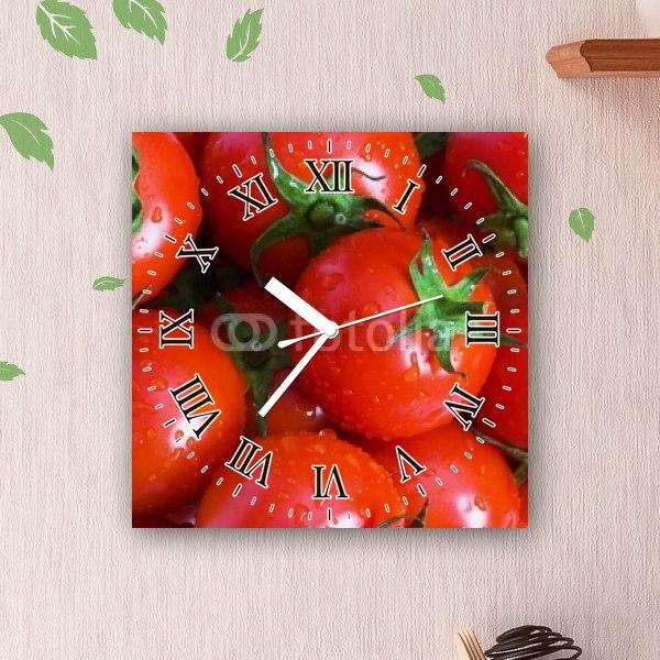 【掛け時計】ぎっしり詰まったミニトマト
