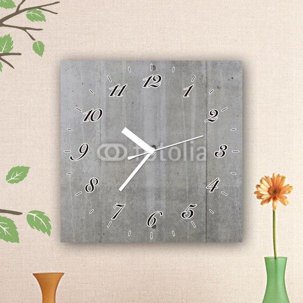 【掛け時計】コンクリートの壁風テクスチャ