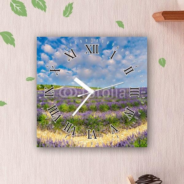 【掛け時計】一面のラベンダー畑2