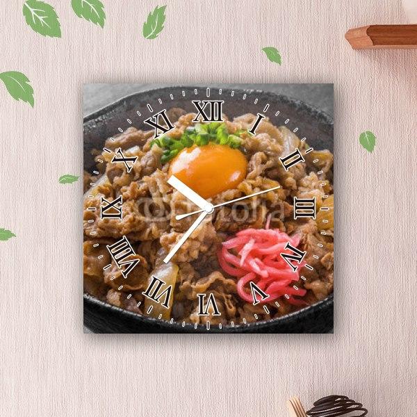 【掛け時計】贅沢な牛丼