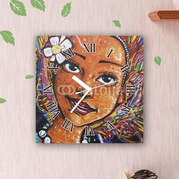 【掛け時計】ブラジルの少女
