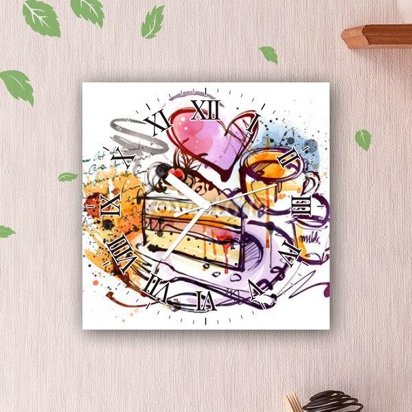 【掛け時計】甘いひと時のカフェ