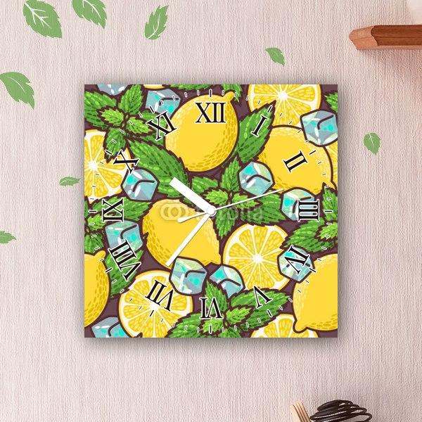 【掛け時計】レモンとペパーミント