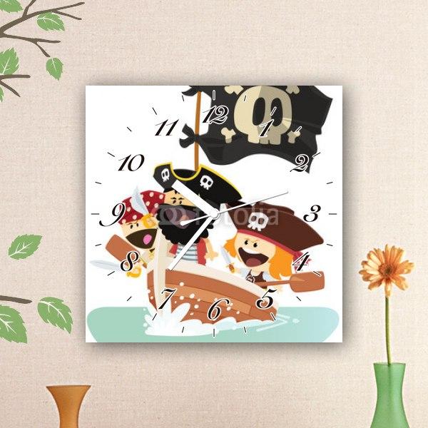 【掛け時計】海賊のおかしらと子分たち