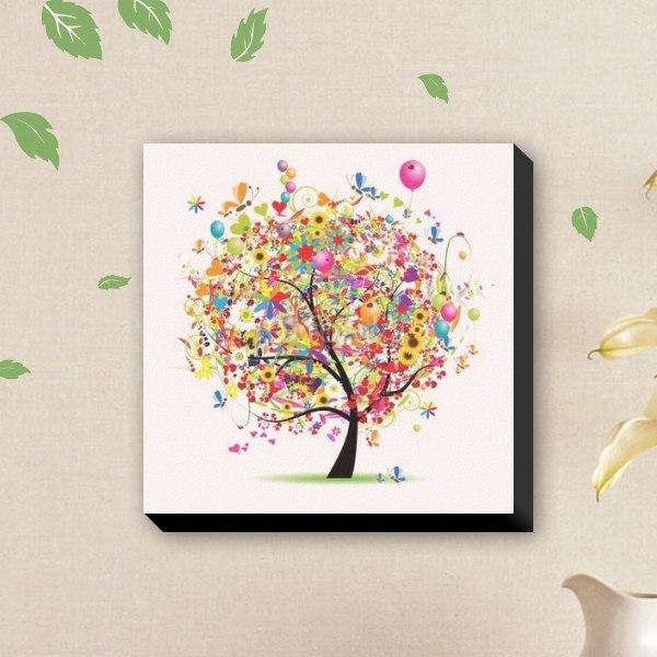 【ファブリックパネル】ハッピーな木