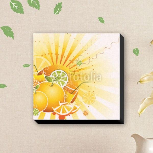 【ファブリックパネル】オレンジジュース