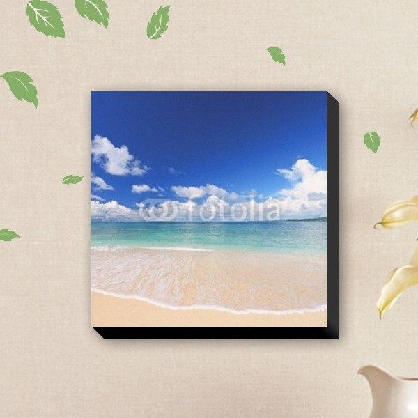 【キャンバスアート】南国のビーチと白い波