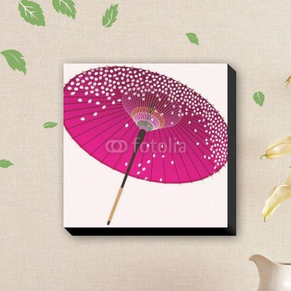 【ファブリックパネル】紫の和傘