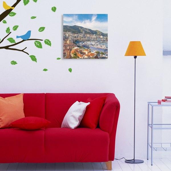 【キャンバスアート】モナコの街並み