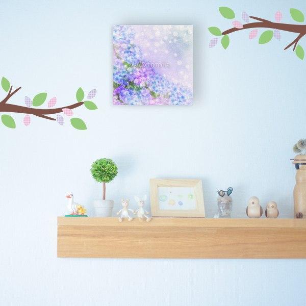 【キャンバスアート】輝くアジサイの花