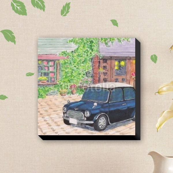 【キャンバスアート】カフェとミニ