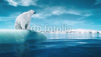 【インテリアシール】流氷と白クマ ウォールステッカー