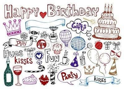 【壁紙】手書きの誕生日 はがせる壁紙