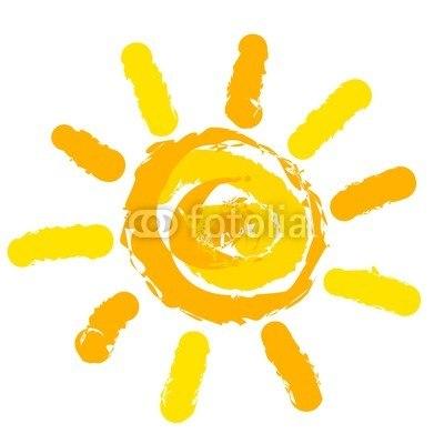 【インテリアシール】太陽のイラスト ウォールステッカー