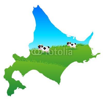 【インテリアシール】北海道の牛さん ウォールステッカー
