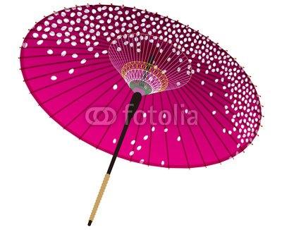 【インテリアシール】紫の和傘 ウォールステッカー