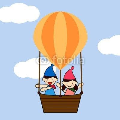 【壁紙】気球に乗ってどこまでも はがせる壁紙