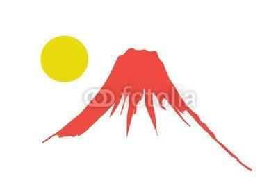 【インテリアシール】赤富士 壁シール