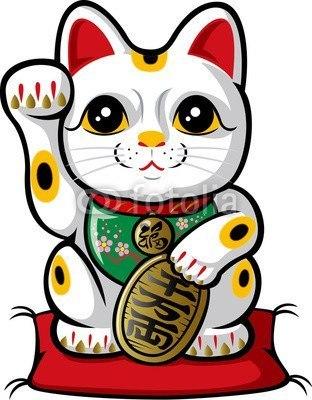 【インテリアシール】商売繁盛の招き猫 ウォールステッカー