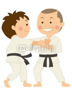 【インテリアシール】柔道を楽しむ二人 ウォールステッカー