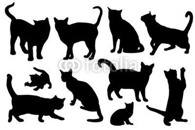 【インテリアシール】猫のシルエット 壁シール