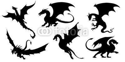 【インテリアシール】ドラゴンスタイル 壁シール